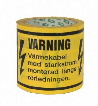 Varseltape 33M for varmekabel